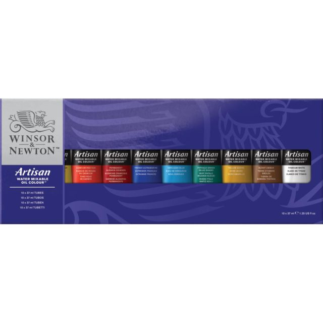 Image of Winsor & Newton Artisan Water Mixable Oil Colour 10x37ml Tube Set