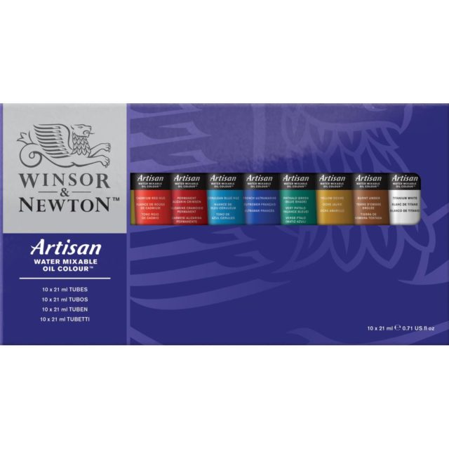 Image of Winsor & Newton Artisan Water Mixable Oil Colour 10x21ml Tube Set