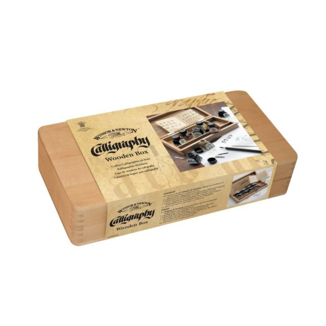 Image of Winsor & Newton Calligraphy Wooden Box Set - With Drawing Inks