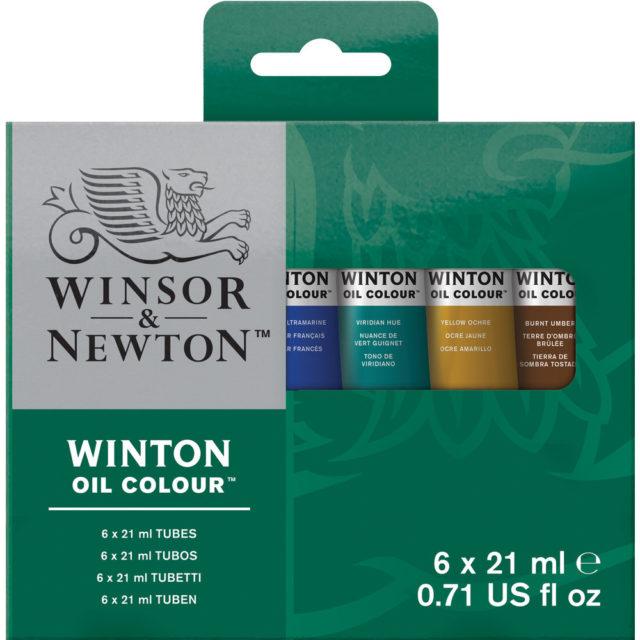 Image of Winsor & Newton Winton Oil Colour 6x21ml Tube Set