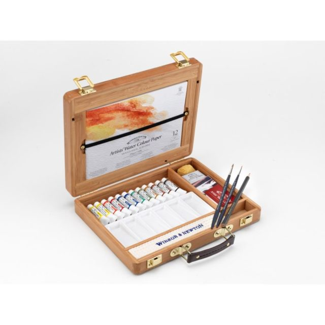 Image of Winsor & Newton Professional Watercolour Bamboo Box - Tubes