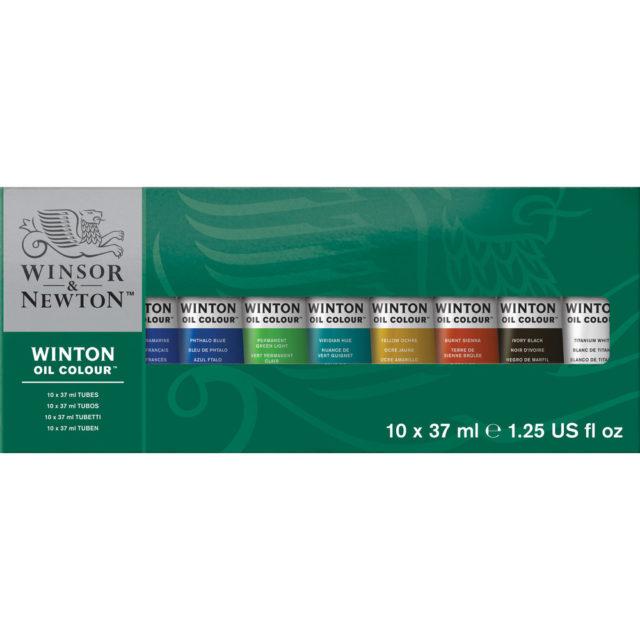 Image of Winsor & Newton Winton Oil Colour 10x37ml Tube