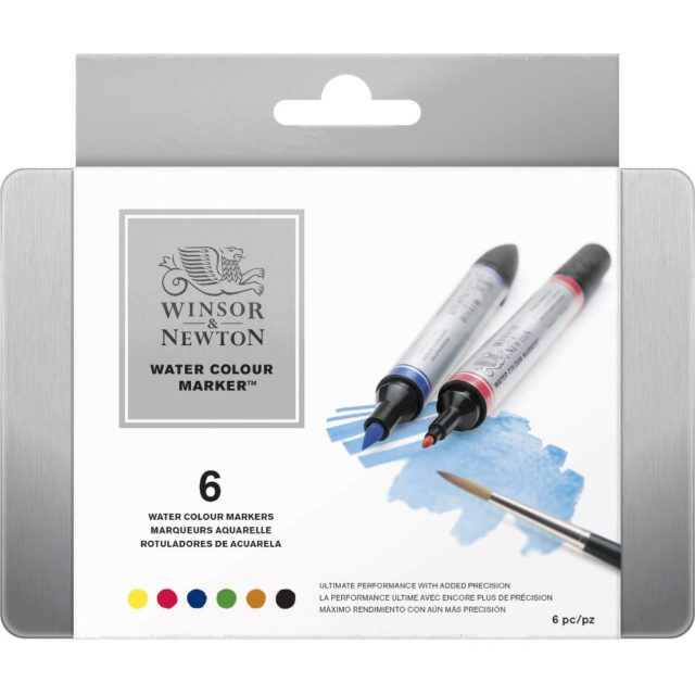 Image of Promarker Watercolour Set - Winsor & Newton Water Colour Markers 6 Set box, Set