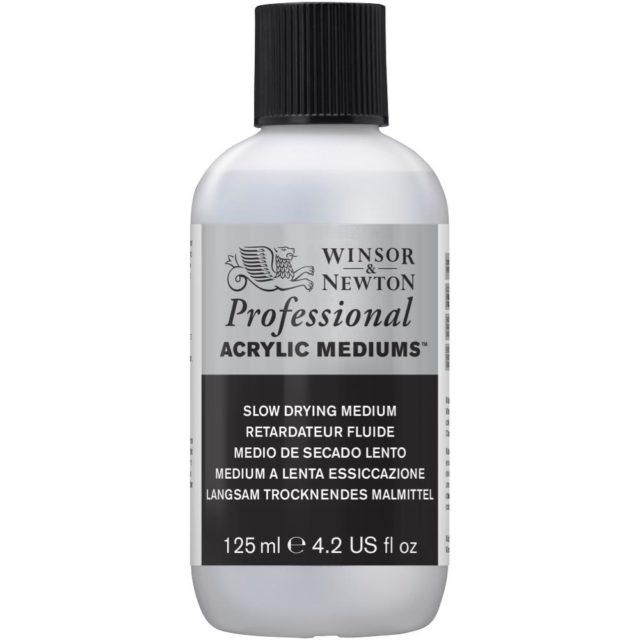 Image of Professional Acrylic Mediums - Winsor & Newton Acrylic Colour Professional Medium, Professional Acrylic Slow Drying Medium, 125ml