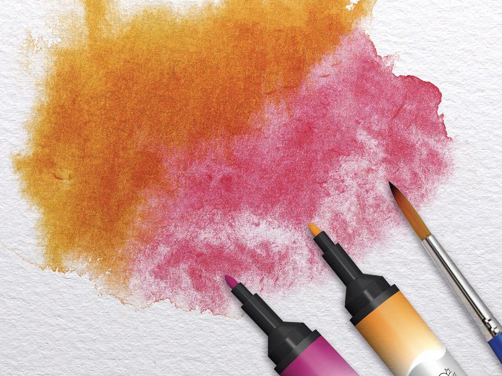 Effects of Promarker Watercolours