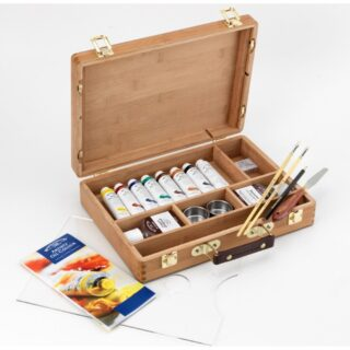 Artists Oil Colour Bamboo Box
