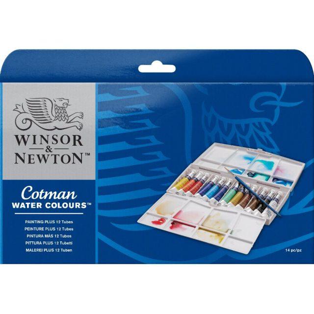 Image of Winsor & Newton Cotman Watercolours Painting Plus Tube Set