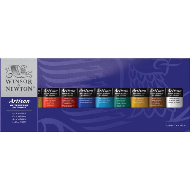 Image of Winsor & Newton Artisan Water Mixable Oil Colour 10x37ml Tube Set