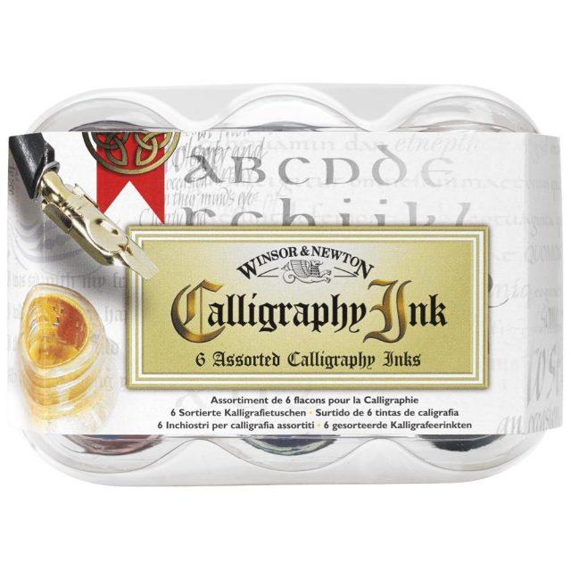 Image of Winsor & Newton Calligraphy Inks - Calligraphy Ink 6 Assorted Set
