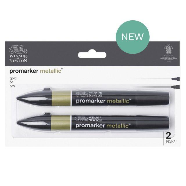 Image of Promarker Metallic Set - Winsor & Newton Promarker Metallic Gold x2, Set