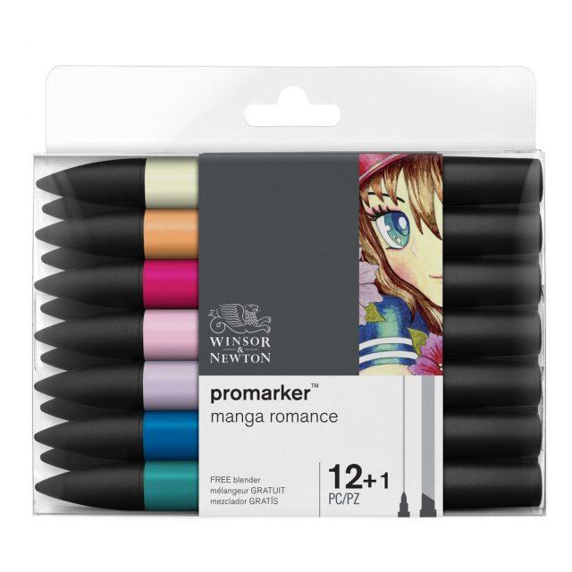 Image of Promarker Set - Winsor & Newton Promarker 12 Manga Romance, Set