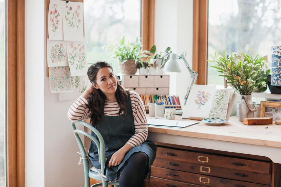 Clare Therese Gray in her studio.