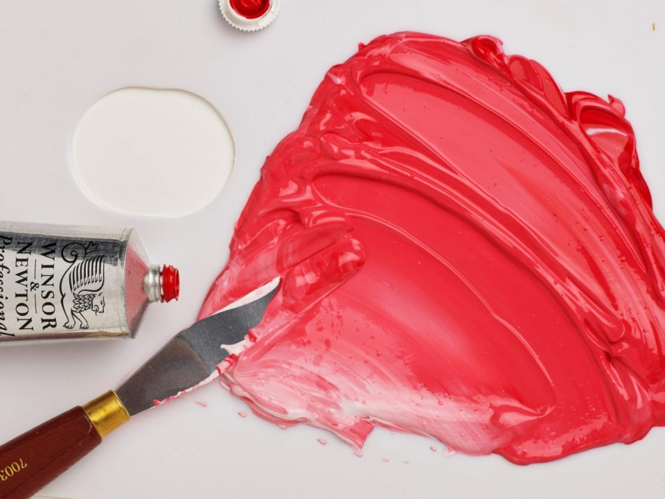 Winsor & Newton Professional Acrylic in Pyrrole Red