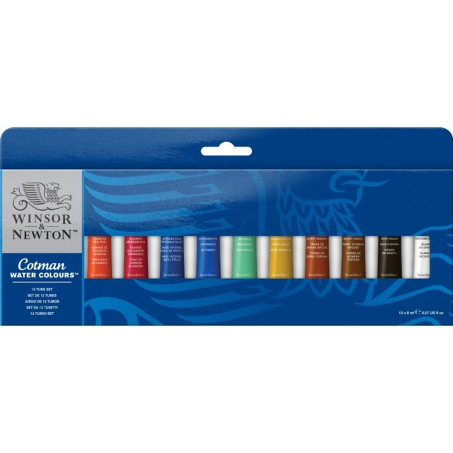 Image of Winsor & Newton Cotman Watercolours 12 Tube Set