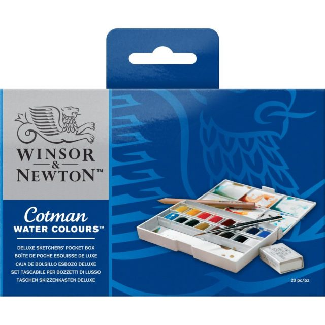 Image of Winsor & Newton Cotman Watercolours Deluxe Sketchers' Pocket Box