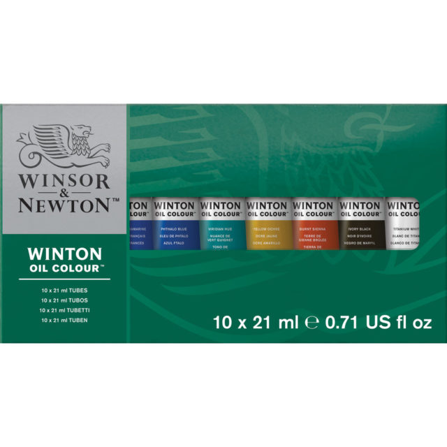 Image of Winsor & Newton Winton Oil Colour 10x21ml Tube Set