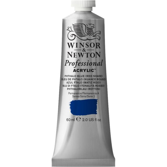 Image of Professional Acrylic - Phthalo Blue (Red Shade), 60ml