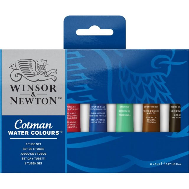 Image of Winsor & Newton Cotman Watercolours 6 Tube Set