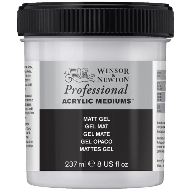 Image of Professional Acrylic Mediums - Winsor & Newton Acrylic Colour Professional Medium, Professional Acrylic Matt Gel, 237ml