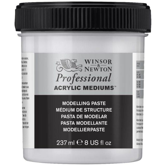 Image of Professional Acrylic Mediums - Winsor & Newton Acrylic Colour Professional Medium, Professional Acrylic Modelling Paste, 237ml