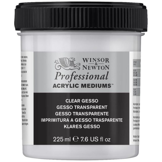 Image of Professional Acrylic Primers - Winsor & Newton Acrylic Colour Professional Primer, Professional Clear Gesso Primer, 225ml
