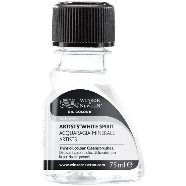 Image of Solvents - Winsor & Newton Oil Colour Artists' Solvent, Artists' White Spirit, 75ml