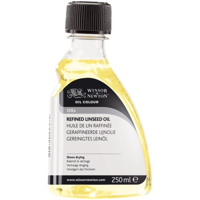 Image of Oils - Winsor & Newton Oil Colour Oil, Refined Linseed Oil, 250ml
