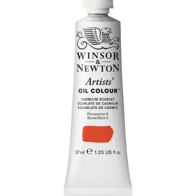 Image of Artists' Oil Colour - Cadmium Scarlet, 37ml