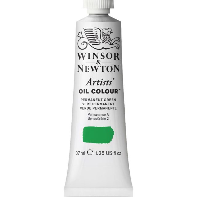Image of Artists' Oil Colour - Permanent Green, 37ml