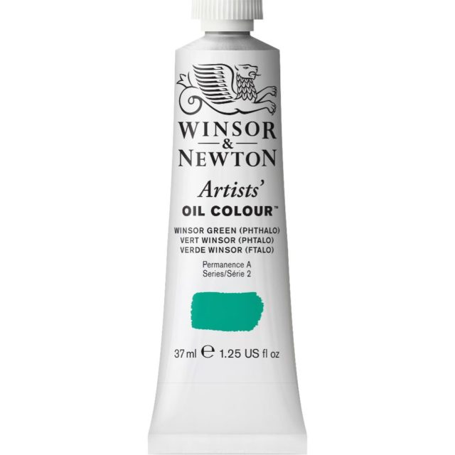 Image of Artists' Oil Colour - Winsor Green (Phthalo), 37ml