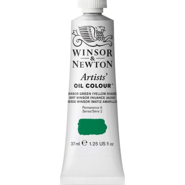 Image of Artists' Oil Colour - Winsor Green (Yellow shade), 37ml