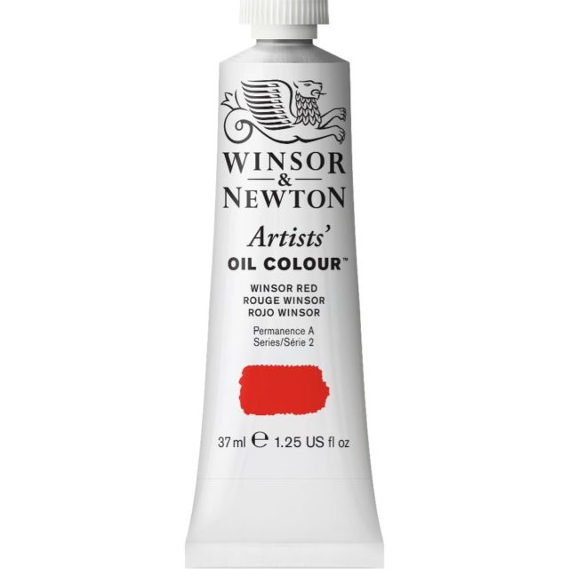 Image of Artists' Oil Colour - Winsor Red, 37ml