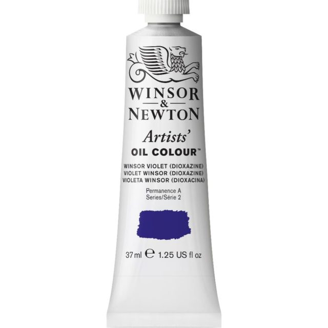 Image of Artists' Oil Colour - Winsor Violet (Dioxazine), 37ml