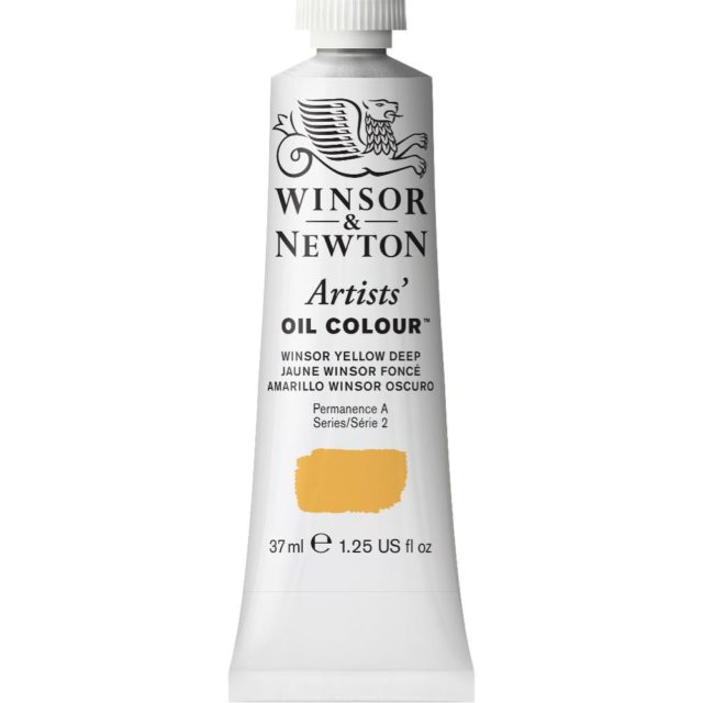Image of Artists' Oil Colour - Winsor Yellow Deep, 37ml