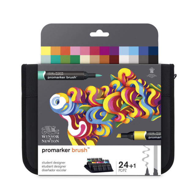 Image of Promarker Brush Set - Winsor & Newton Promarker Brush 24 Student Designer, Set