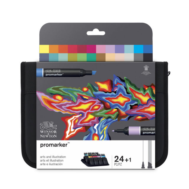 Image of Promarker Set - Winsor & Newton Promarker 24 Arts & Illustration, Set