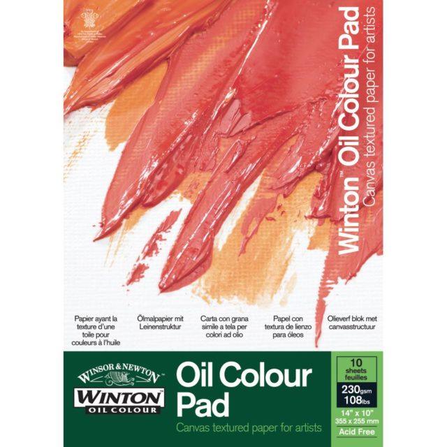 "Image of Winton Oil Colour Paper Pad - Winton Oil Colour, 12x9"""