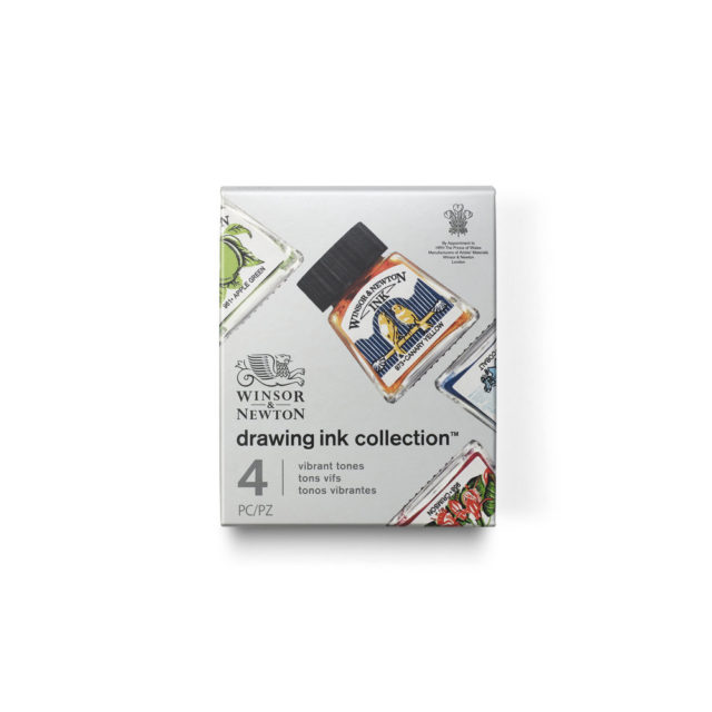 Image of Winsor & Newton Drawing Ink Collection - Set of 4 (Vibrant Tones)
