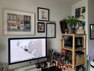 Mariajo's studio set up. ©Mariajo Ilustrajo