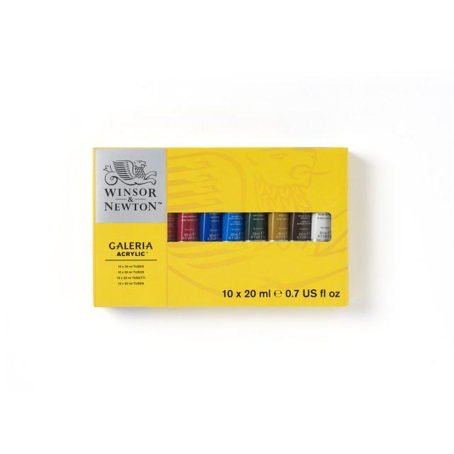 Image of Winsor & Newton Galeria Acrylic Galeria 10x20ml Tube Set