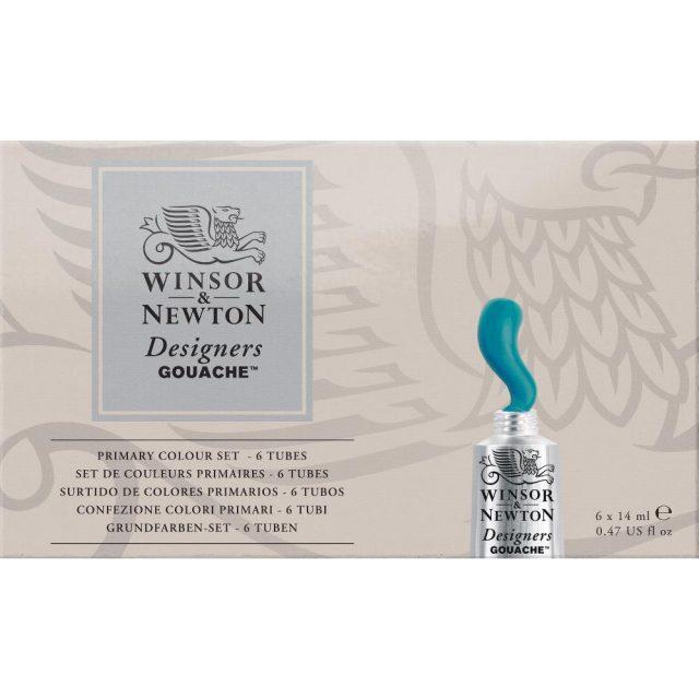 Image of Winsor & Newton Designers Gouache Primary Colour Set