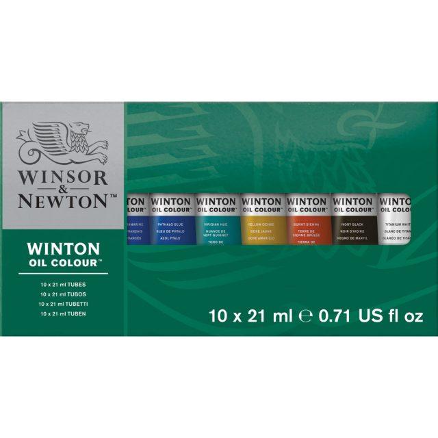 Image of Winsor & Newton Winton Oil Colour 10x21ml Tube Set
