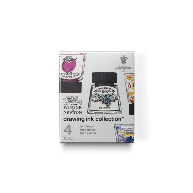 Image of Winsor & Newton Drawing Ink Collection - Set of 4 (Rich Tones)
