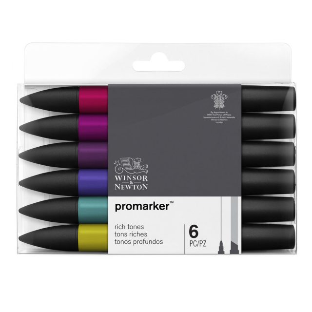 Image of Promarker Set - Winsor & Newton Promarker 6 Rich Tones, Set
