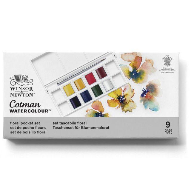 Image of Winsor & Newton Cotman Watercolour Floral Pocket Set