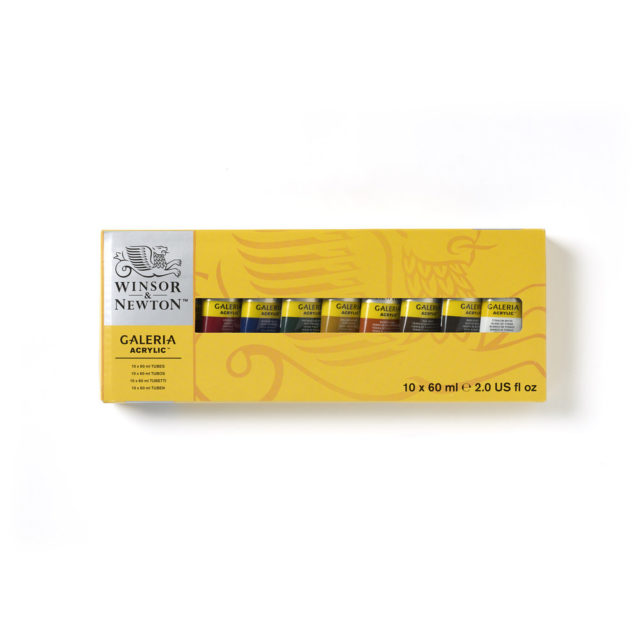 Image of Winsor & Newton Galeria Acrylic Galeria 10x60ml Tube Set