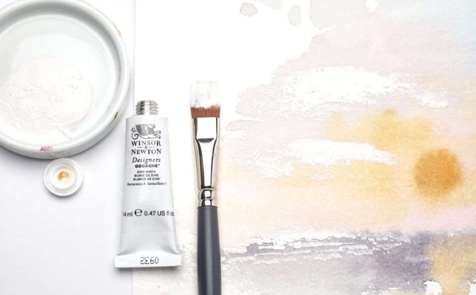 Understanding the difference between watercolour and gouache whites