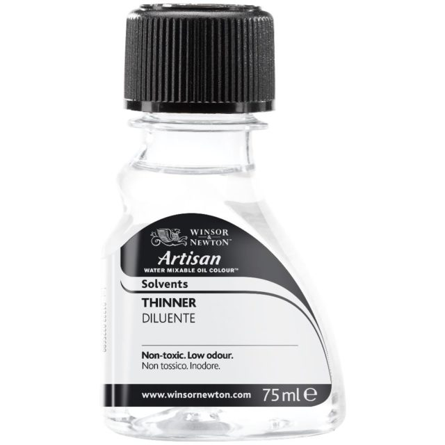 Image of Artisan Solvent - Winsor & Newton Oil Colour Artisan Solvent, Artisan Water Mixable Thinner, 75ml