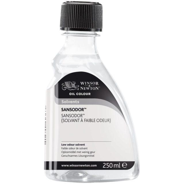 Image of Solvents - Winsor & Newton Oil Colour Solvent, Sansodor (Low Odour Solvent), 250ml