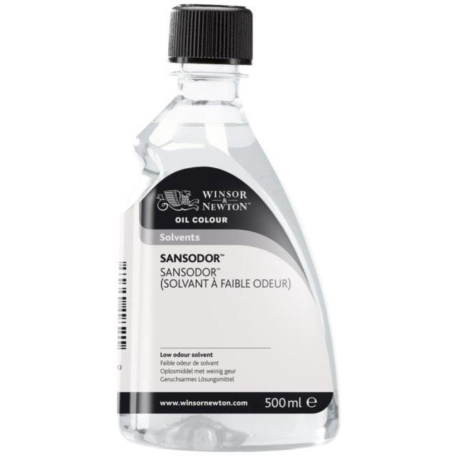 Image of Solvents - Winsor & Newton Oil Colour Solvent, Sansodor (Low Odour Solvent), 500ml